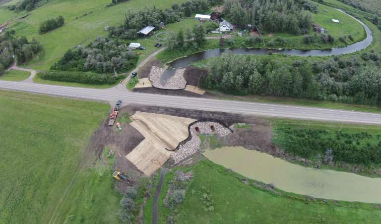 Northern Road Builders - Aerial View, Environmental Remediation - La Crete, Alberta