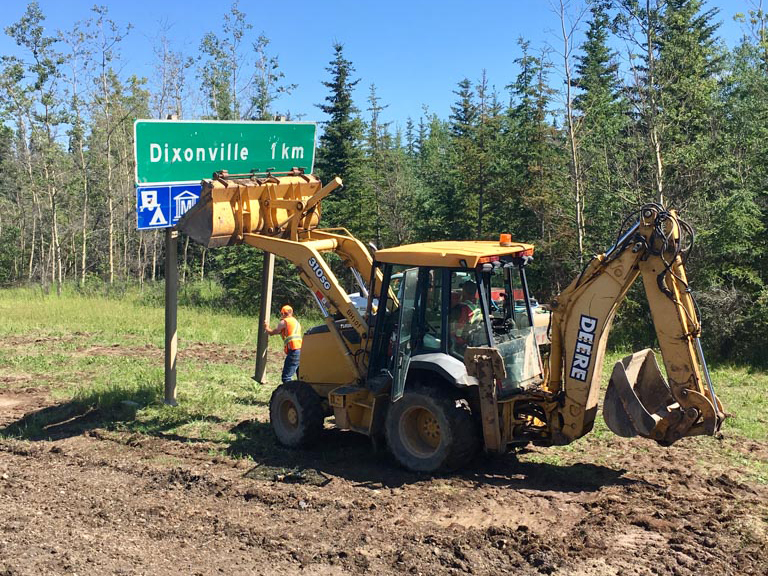Northern Road Builders - La Crete, Alberta - Backhoe